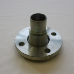 Flanges Type F 148, Swivel flange coupling with smooth hose tail and collar for assembly with safety clamps.