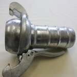 Bauer Type S77, Male coupling, with hose tail, ball and lever closure ring