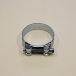 Hose clamp Type Super-Klem, Bolt clamp with steel bolt and nut.