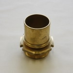 Lug Nut Type L157, Male threaded coupling with smooth tail and safety collar for safety clamps.