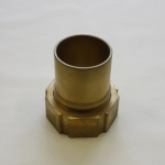 Lug Nut Type L158, Coupling female threaded with smooth hose tail and collar for safety clamps assembly.