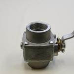 Renuskraan met binnendraad Type RKV, Renuskraan met hendel en 2x inwendige schroefdraad voorzien van een Teflondichting voor abrasieve producten.