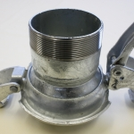 Bauer Type S74, Male coupling, with lever ring, male threaded.